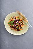 Vegetarian vegetable salad with tofu