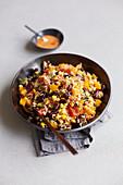 Chilli sin carne rice salad