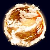 Atmosphere of Venus, illustration