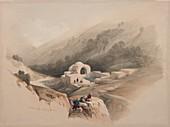 Fountain of Job, Jerusalem, 19th century illustration
