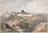 Jerusalem, 19th century illustration