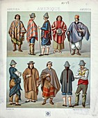 Ancient Indigenous American clothing, illustration