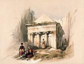 Tomb of Zechariah, Jerusalem, 19th century illustration
