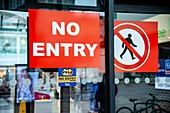 Covid-19 no entry sign