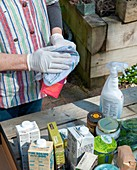 Disinfecting groceries during the Covid-19 outbreak