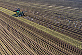 Sugar beet harvest, aerial photograph