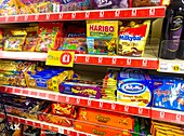 Sweets and biscuits on offer in a shop
