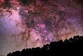 Milky Way, Messier 16 and Messier 17 nebulae