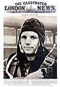 Yuri Gagarin on newspaper front page