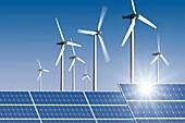 Renewable energy, conceptual image