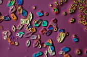 Ammonium cerium nitrate, polarised light micrograph