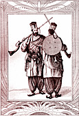 19th Century Beloutchistan warriors, illustration
