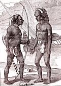 19th Century Vanikoro men, illustration