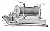 19th Century induction coil, illustration
