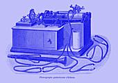 19th Century phonograph, illustration