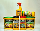 Cleaning wipes and spray