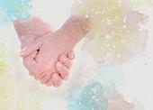 Holding hands, illustration