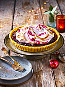 Vegane Heidelbeer-Baiser-Pie