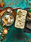 Veganes Christmas-Pudding-Eis mit Rum