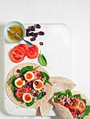 Gesunde Wraps mit Nizzasalat