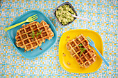 Potato and courgette waffles