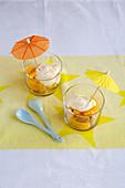Melba toast and orange dessert