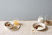 Energy muesli and gluten free muesli