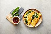 Emmental-mangold omelette