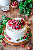 Raspberry buttercream cake