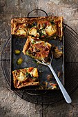 Vegetable quiche with goat's cheese