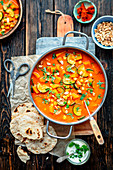 Chickpeas and pumpkin curry