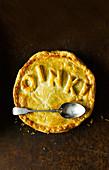Ham hock, cider and green peppercorn pie