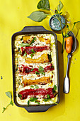 Bell pepper cannelloni with ricotta sauce