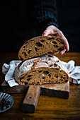 Cinnamon, raisin and sourdough bread