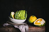 Still Life with Ugli Fruit and Romanesco