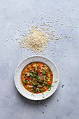 Barley soup with vegetable