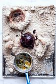 Beetroot in a salt crust