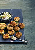 Thai style fishcakes with sweet and sour cucmber pickle