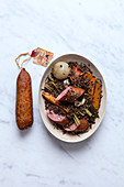 Morteau sausage and green lentils