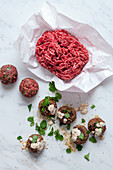 Ground beef meat balls
