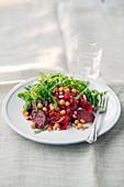 Warm chorizo and chickpea salad