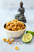 Thai popcorn with chili and peanuts
