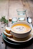 Suppe aus Hokkaidokürbis