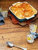 Chicken Pie mit Filoteighaube