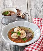 Beef broth with Tirol dumplings