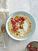 Fermented porridge with red currant