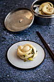 Hua Juan - Chinese steamed spring onion flower buns