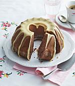Apple and cocoa fancy bread guglhupf