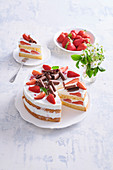 Cake strawberry dream with cottage cheese