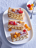 Mille-feuille with fresh fruits